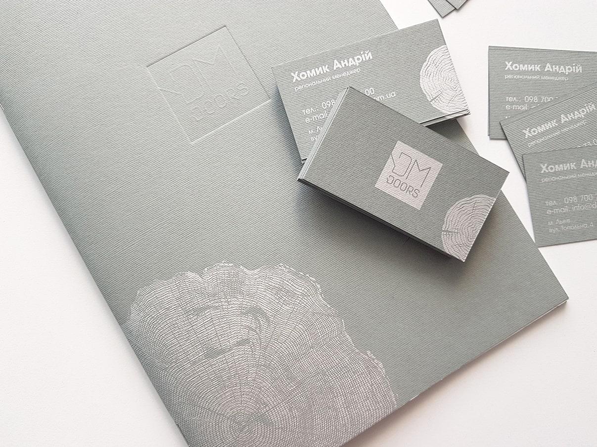 Дизайнерський папір друк сріблом